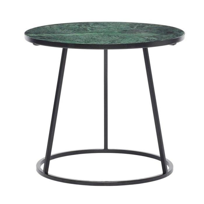 Table Basse Ronde Marbre Métal Vert Hubsch La Redoute