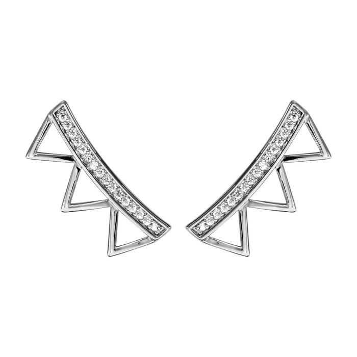 Boucles d'oreilles 3 triangles oxyde de zirconium blanc argent 925 couleur unique So Chic Bijoux | La Redoute Vente Boutique Pour Jeu En France QjPel0d8