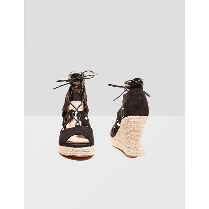 Sandales compensées noir Jennyfer