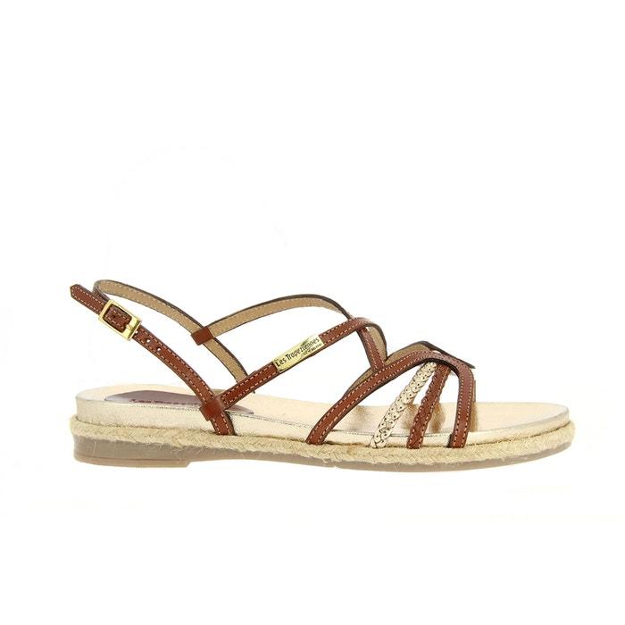 sandales cuir les tropeziennes par m belarbi marron multicolore la redoute. Black Bedroom Furniture Sets. Home Design Ideas