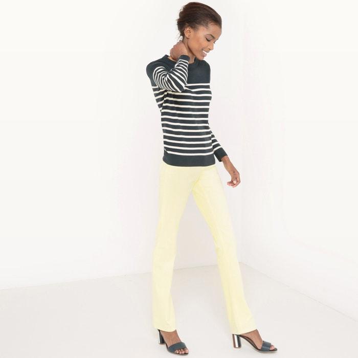 afbeelding Trui in fijn tricot met ronde hals La Redoute Collections