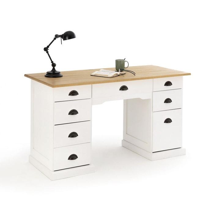 bureau double caisson pin betta bois blanc la redoute. Black Bedroom Furniture Sets. Home Design Ideas