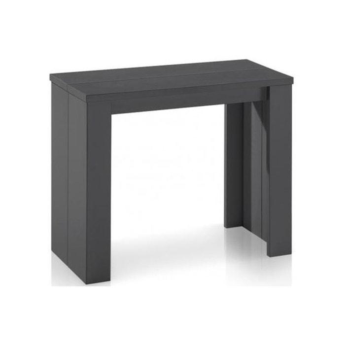 table console extensible gris vintage broadway gris declikdeco la redoute. Black Bedroom Furniture Sets. Home Design Ideas