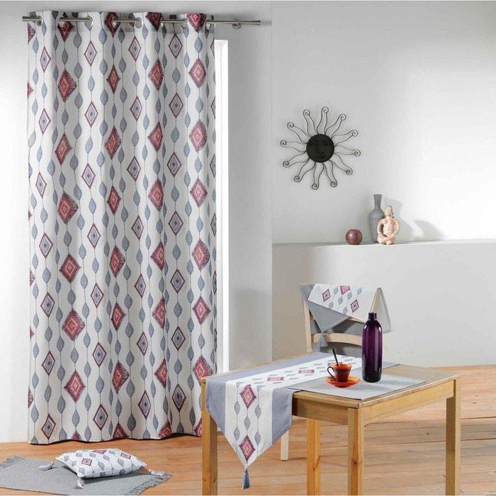 rideau azteca blanc 140x260 blanc douceur d 39 int rieur la. Black Bedroom Furniture Sets. Home Design Ideas