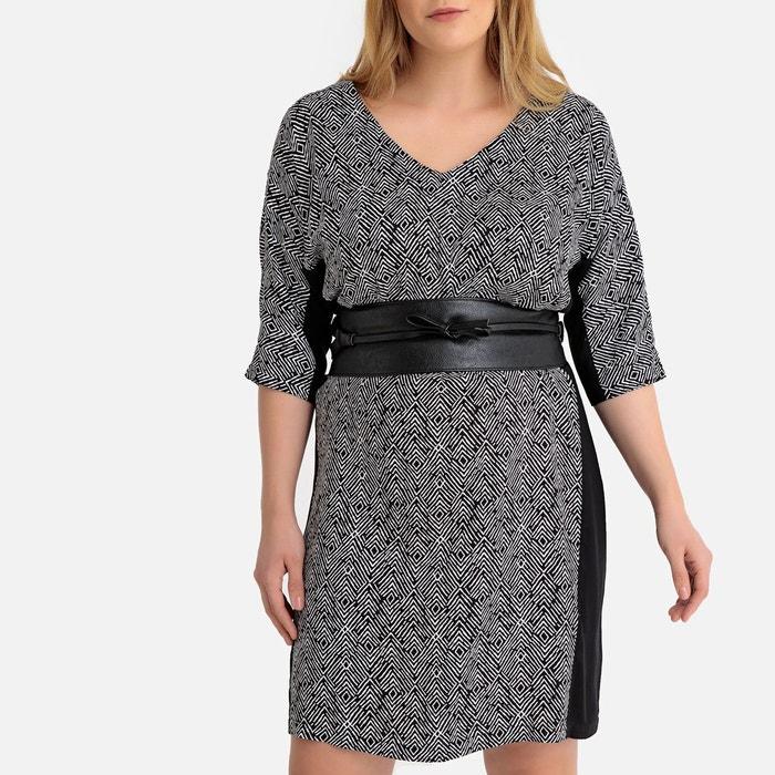 Robe Droite Imprimee Mi Longue Imprime Ethnique Noir Blanc Castaluna La Redoute