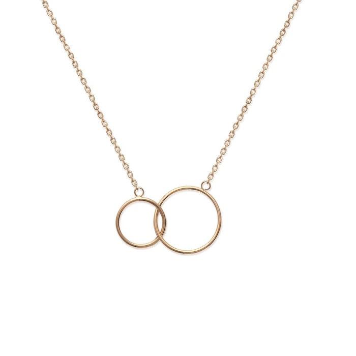 Collier en chaine pour femme '2 cercles' Lorenzo R | La Redoute Grand Escompte Pas Cher En Ligne sBQU2BOIr