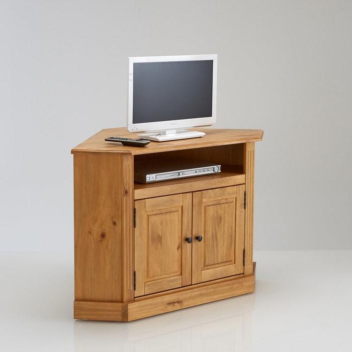 Image Authentic Solid Waxed Pine Corner TV Unit La Redoute Interieurs