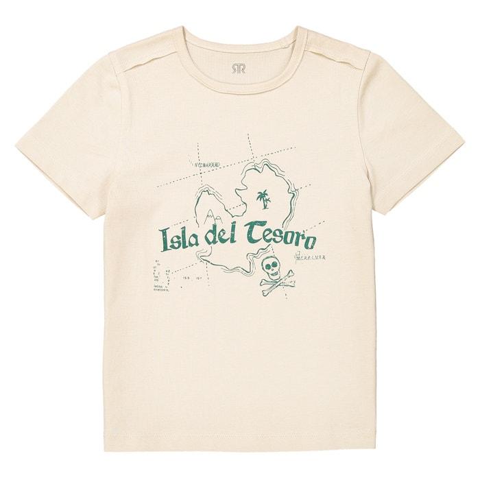 T-shirt scollo rotondo con motivo 3 - 12 anni  La Redoute Collections image 0