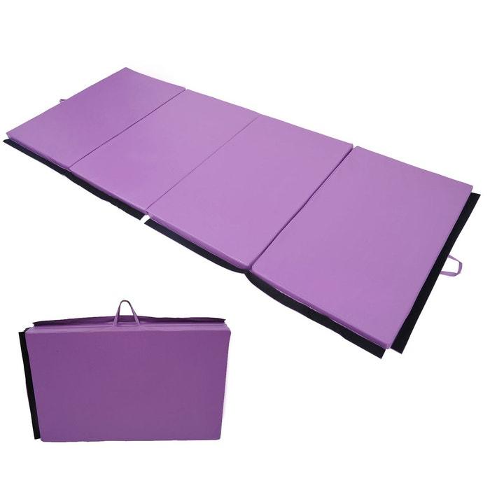 tapis de gymnastique pliable violet homcom image 0 - Tapis De Gym