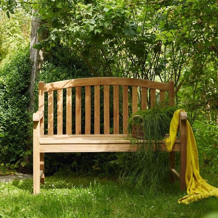 banc en bois de teck 120 teck brut bois dessus bois dessous la redoute. Black Bedroom Furniture Sets. Home Design Ideas