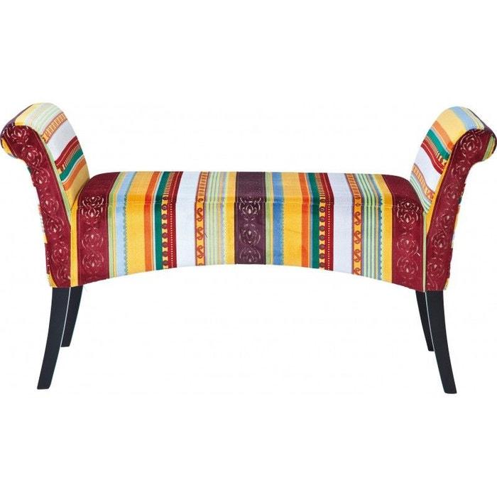 Banc En Tissu Motley Very British Kare Design Multicolore Kare