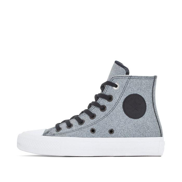 Baskets montantes ctas ii hi noir/blanc Converse