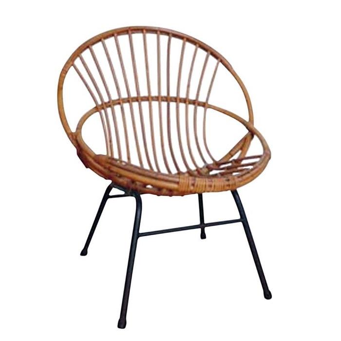fauteuil en rotin laqu et m tal marron aubry gaspard la redoute. Black Bedroom Furniture Sets. Home Design Ideas