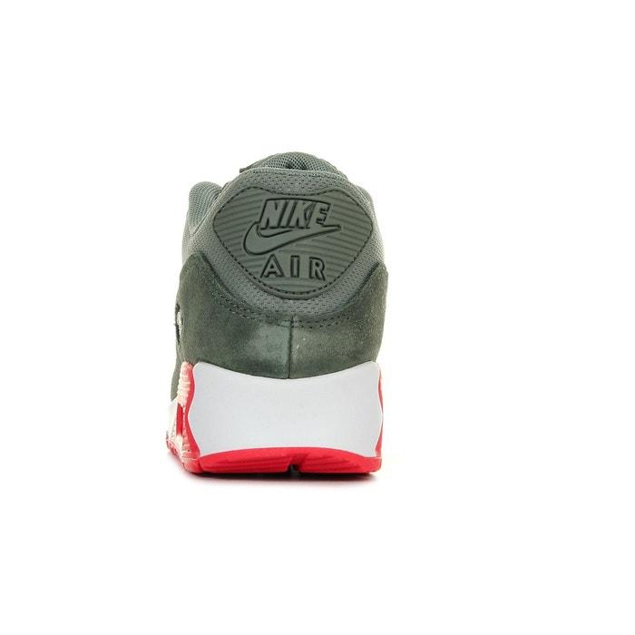 Baskets femme air max 90 mesh gris/rouge - blanc Nike