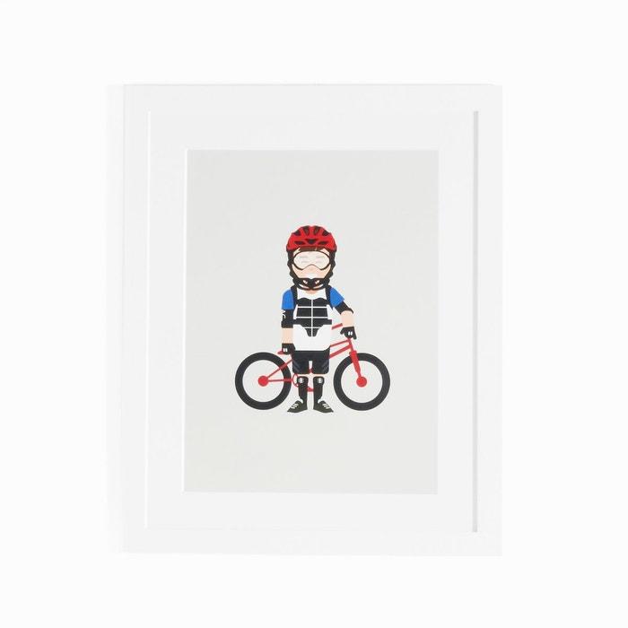 Affiche encadrée biker, Coriamai