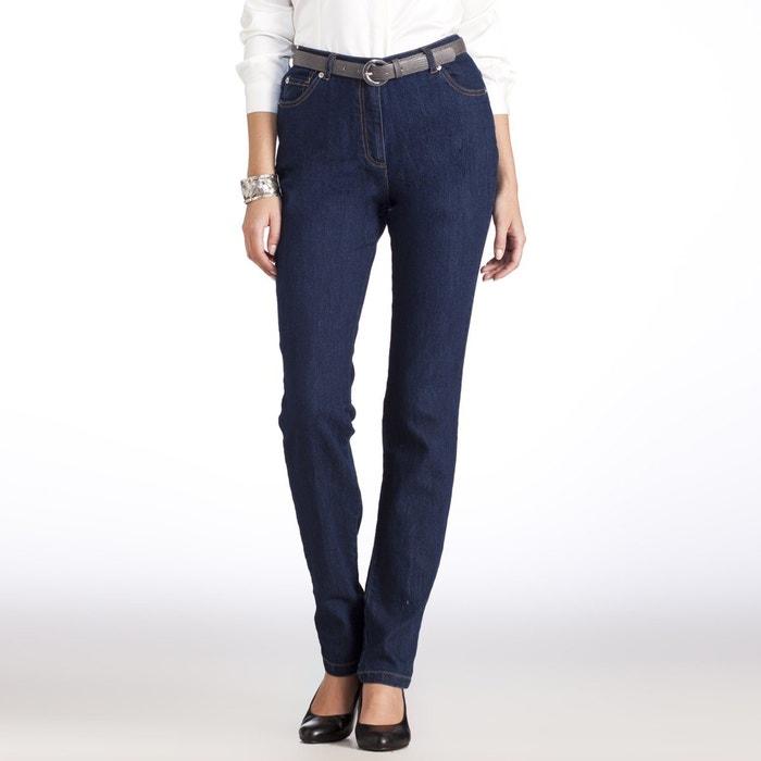 Image Straight Cut Stretch Denim Jeans ANNE WEYBURN