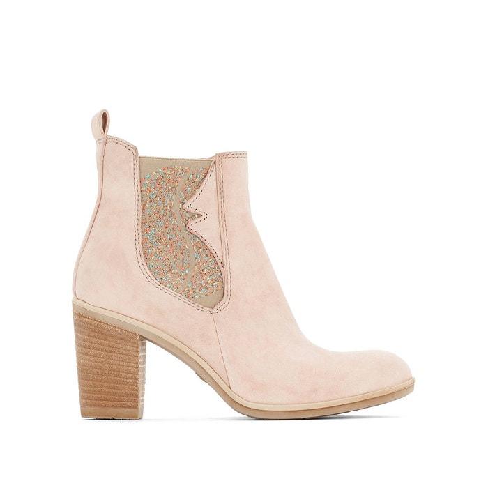 Boots cuir à talon melody rose poudré Mjus Vente À Bas Prix Les Dernières Collections Meilleur Choix sGkLQ54