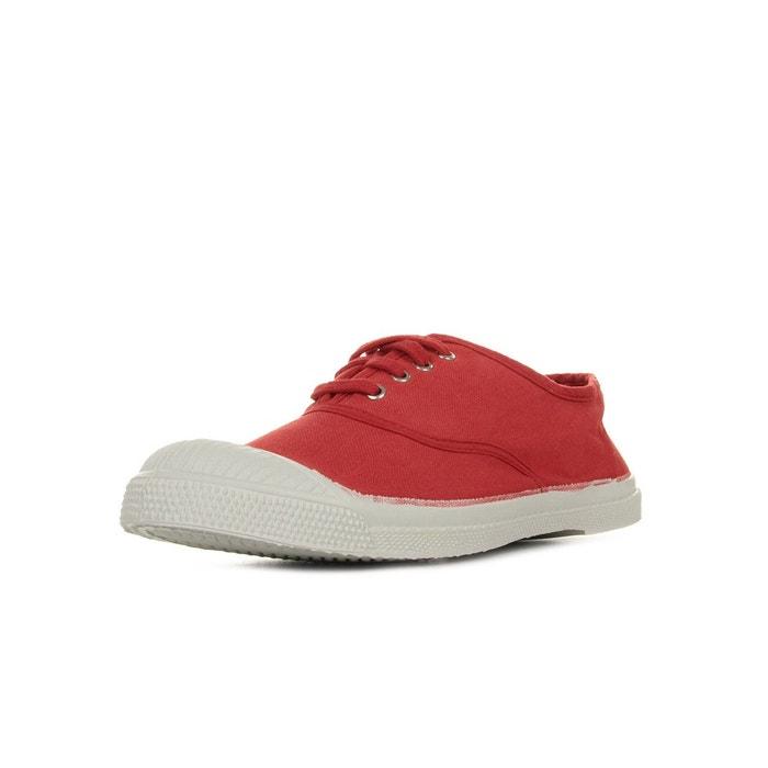 Baskets femme tennis lacet rouge  rouge Bensimon  La Redoute