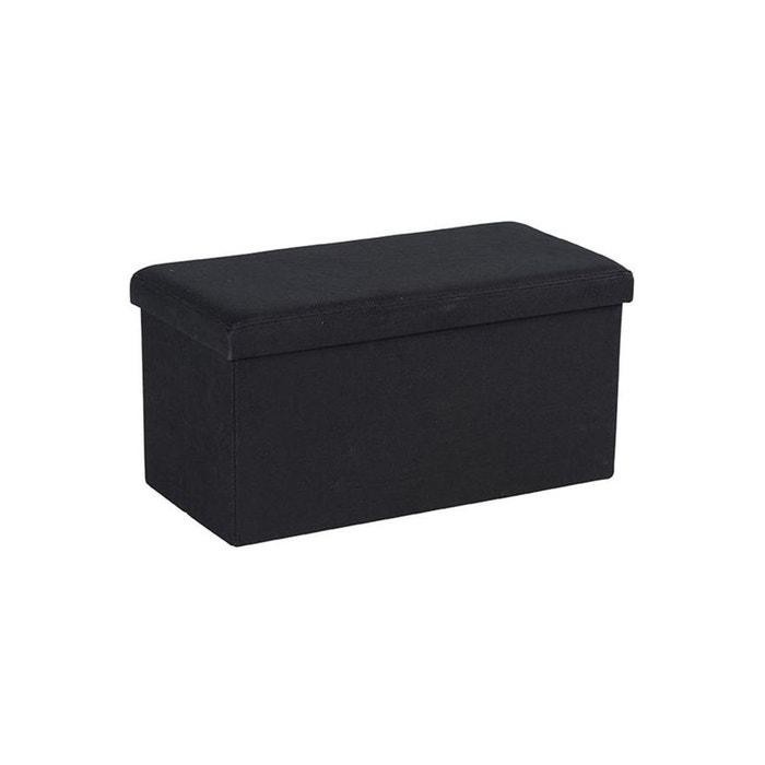 Banc Coffre Tissu Noir Suédine Pitch Noir Pier Import La Redoute