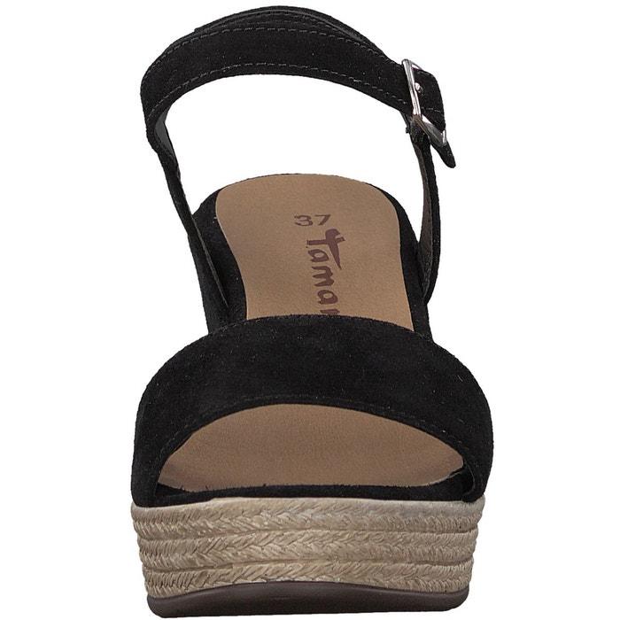 Sandales cuir talon compensé vivana Tamaris