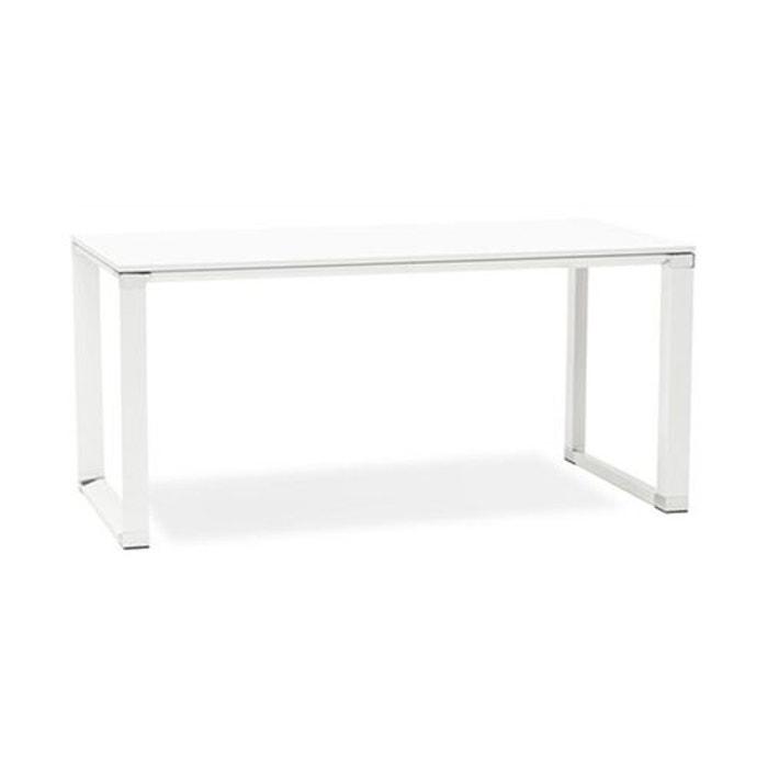 bureau bois blanc warner blanc kokoon design la redoute. Black Bedroom Furniture Sets. Home Design Ideas