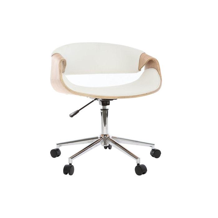 fauteuil de bureau design pu bois aramis miliboo la redoute. Black Bedroom Furniture Sets. Home Design Ideas