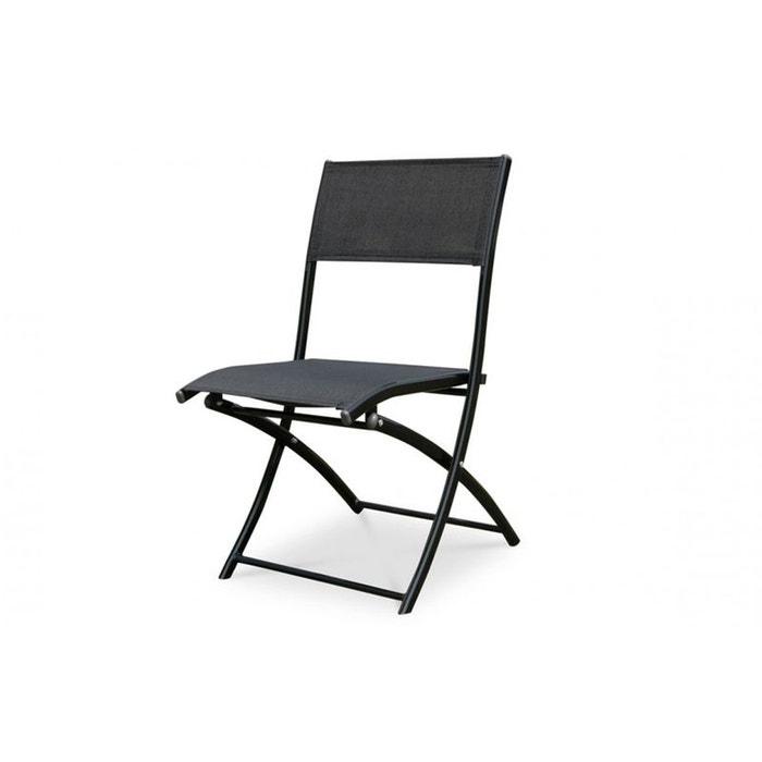 chaise pliante noire brillante couleur unique le reve chez vous la redoute. Black Bedroom Furniture Sets. Home Design Ideas