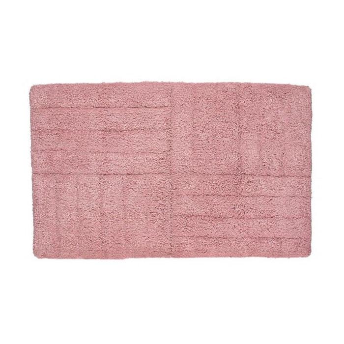 tapis de bain rose 100 coton 1800g rose wadiga la redoute. Black Bedroom Furniture Sets. Home Design Ideas