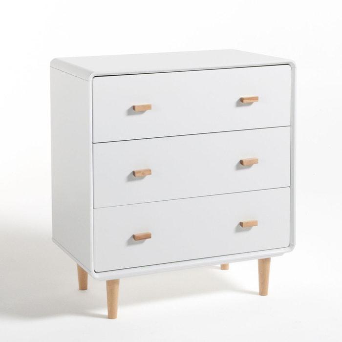Commode 3 tiroirs jimi blanc la redoute interieurs la redoute - La redoute meuble chambre ...