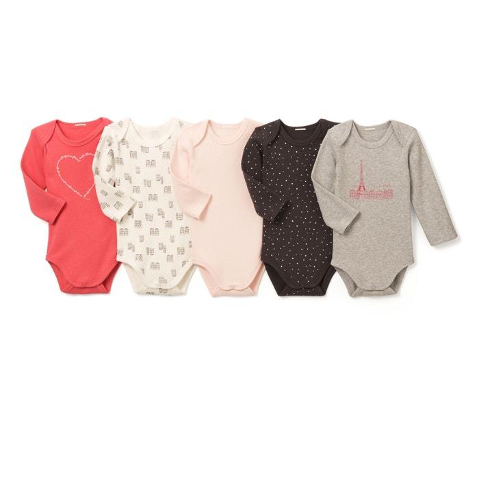 Confezione da 5 Body in cotone da 0 mesi a 3 anni, Oeko Tex  La Redoute Collections image 0