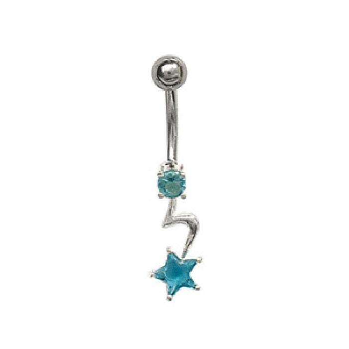 Bijoux De Nombril piercing banana nombril etoile bleu acier so chic bijoux | la redoute