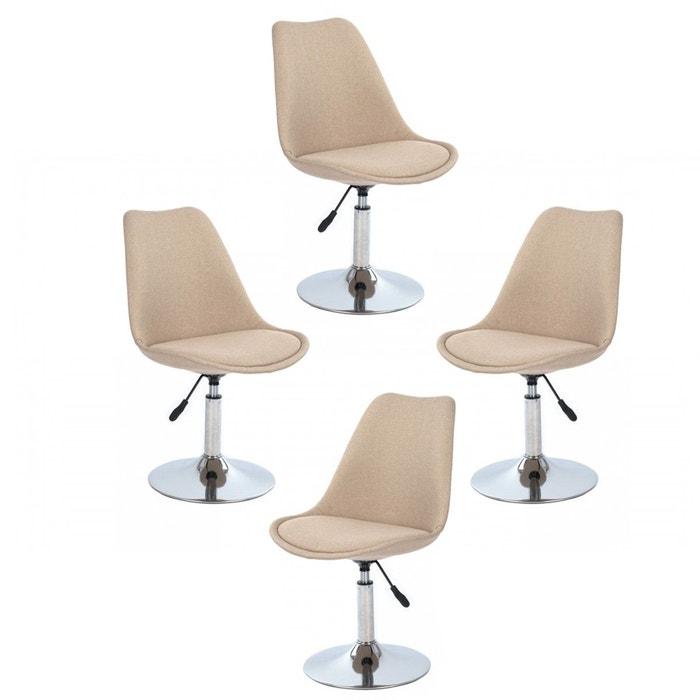 De Lot 4 Beige Scandinave Chaise Design Bureau c3uKJl1TF