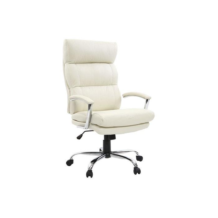 fauteuil de bureau design cuir tilio blanc miliboo la redoute. Black Bedroom Furniture Sets. Home Design Ideas