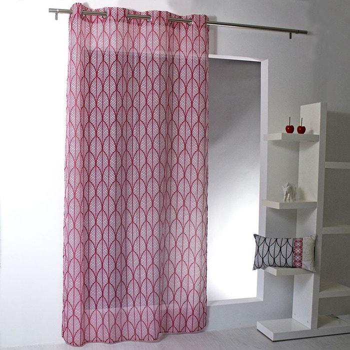 voilage feuilles color es home maison la redoute. Black Bedroom Furniture Sets. Home Design Ideas