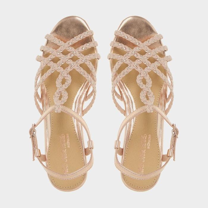 ... Sandales tressées à torsade et petits talons compensés - kitti Head  Over Heels By Dune ... 7a1d4131a200