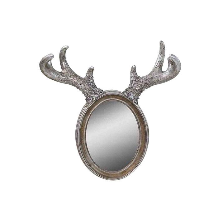 Miroir cornes d 39 elan argent argent emde premium la redoute for Miroir d argent