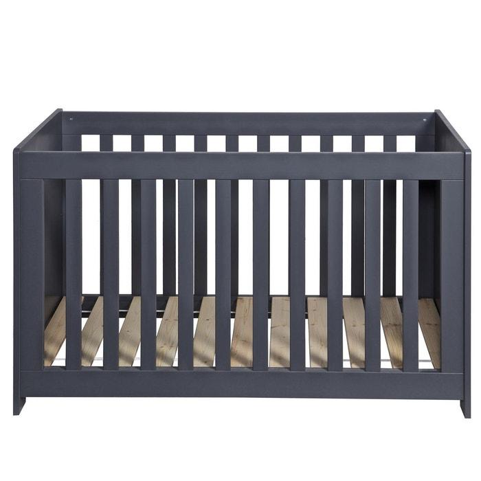 Lit bébé bois massif 60x120 gris acier acier Alfred Et Compagnie ...