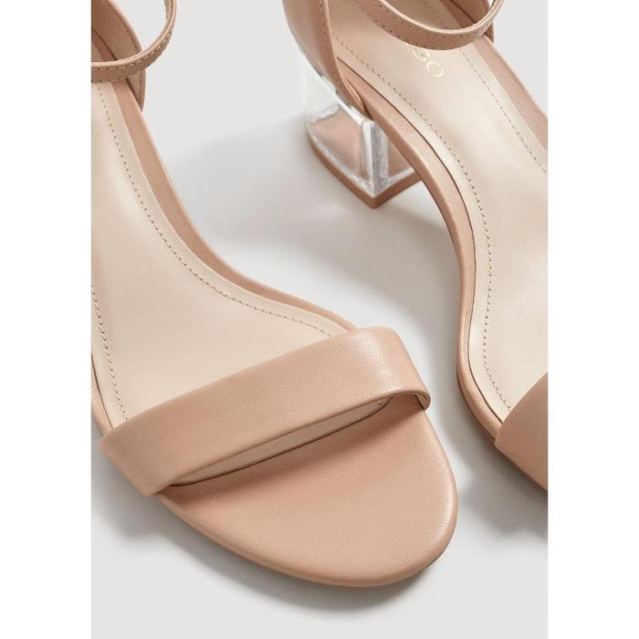 Sandales talons transparents nude Mango
