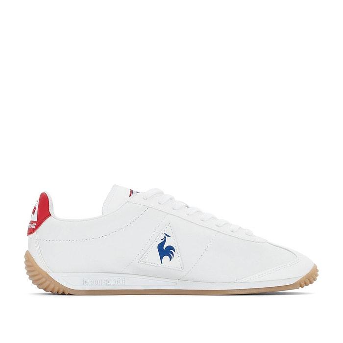 Baskets quartz lea sport gum blanc/bleu Le Coq Sportif