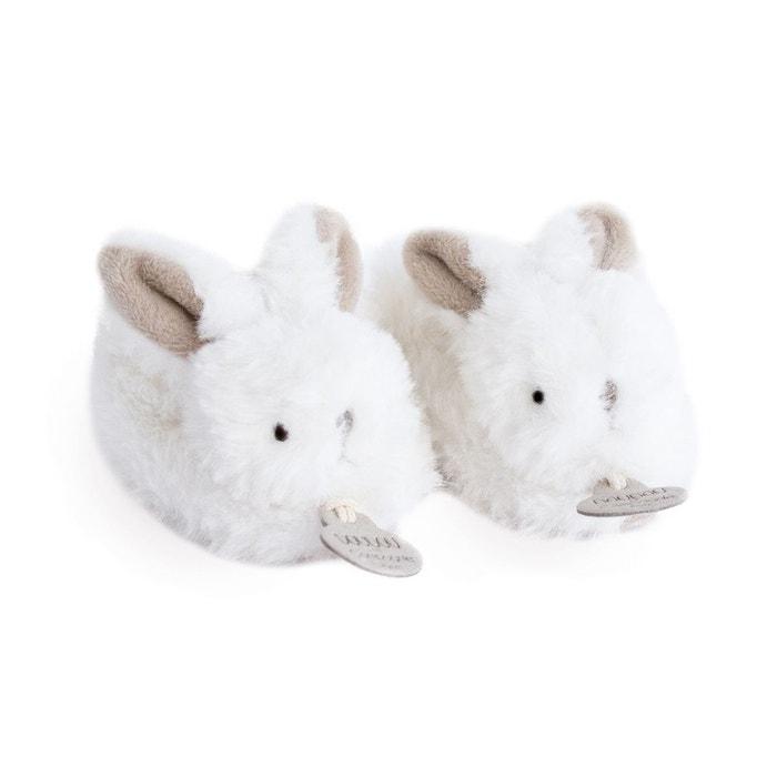 23fdc73a37e39 Mes petits chaussons lapin bonbon taupe Doudou Et Compagnie