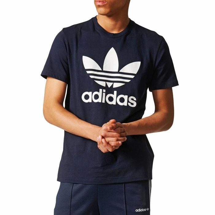 Tee shirt col rond manches courtes imprimé devant bleu marine Adidas  Originals  3b72df5d2ed