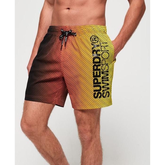 Short de bain sport volley orange fluo ombré Superdry  8587b56abda