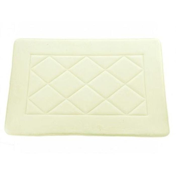 tapis de bain m moire de forme diamond ecru sensei la redoute. Black Bedroom Furniture Sets. Home Design Ideas