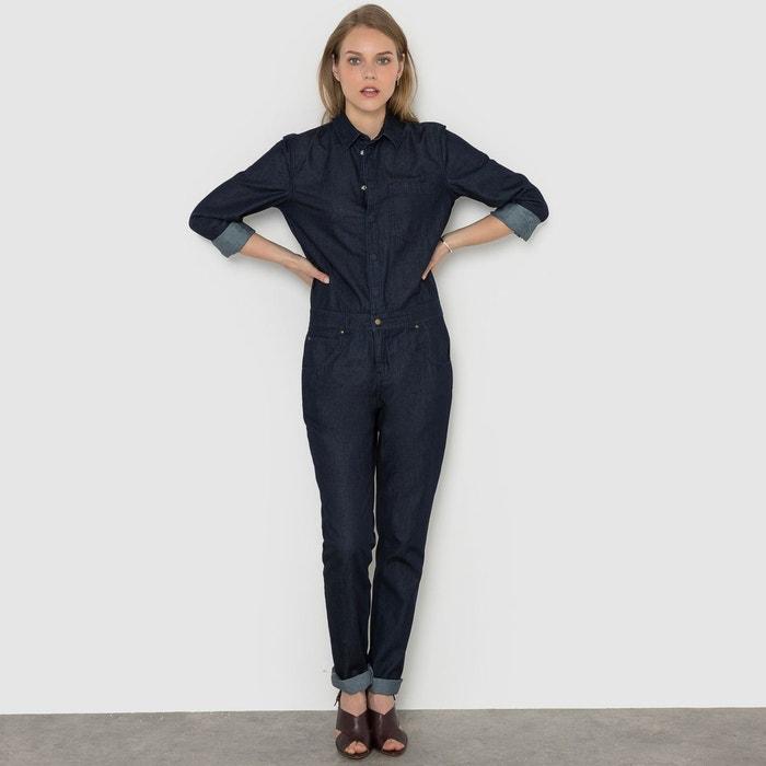 combinaison en jean bleu brut la redoute collections la redoute. Black Bedroom Furniture Sets. Home Design Ideas