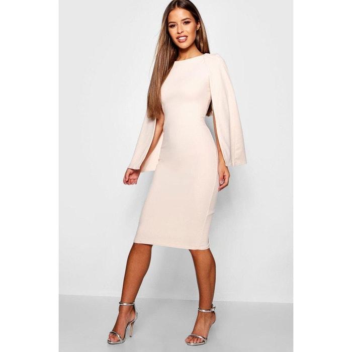 various colors better wholesale online Robe Mi-Longue Droite Col Rond, Manches Longues