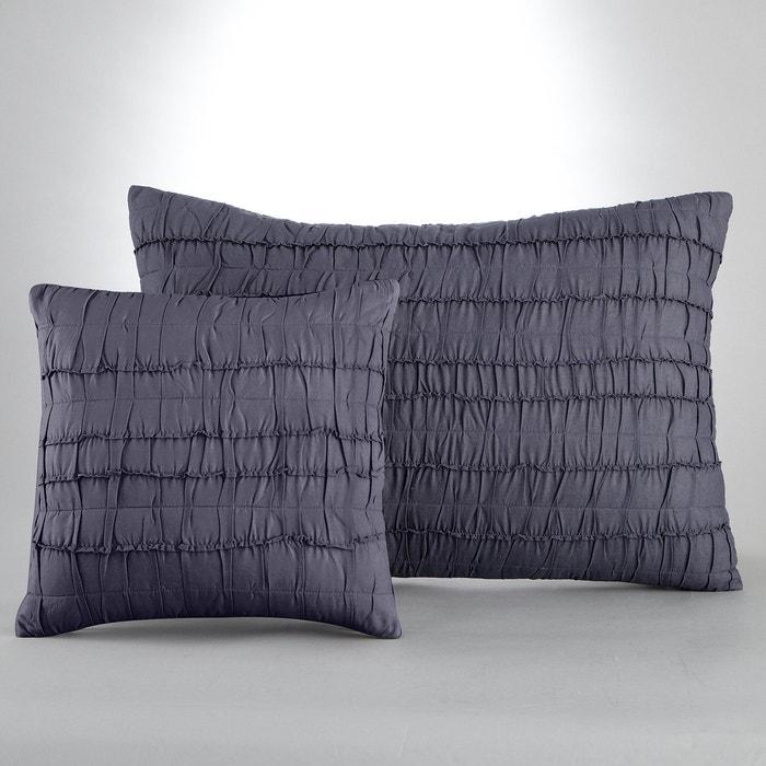 Image Housse de coussin ou d'oreiller plissé en coton, Menna La Redoute Interieurs