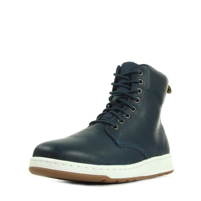 Dr Martens Rigal Lake Blue Carpathian Bleu marine - Chaussures Boot Homme