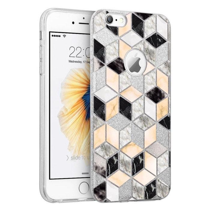 coque iphone 6 marbre paillette