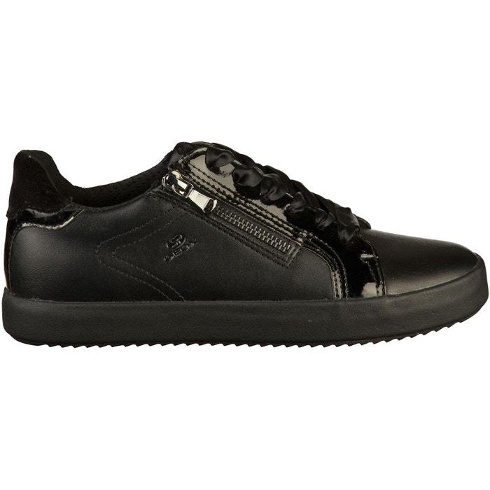 Sneaker cuir black Geox   La Redoute