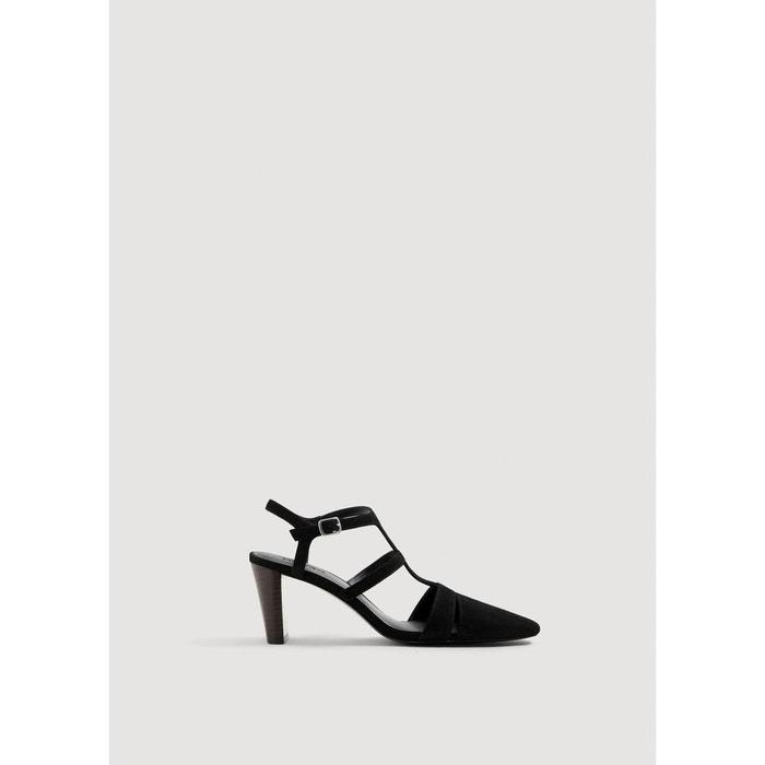 Chaussures cuir à brides noir Mango Parfait La Vente En Ligne Grande Remise En Ligne 2018 Plus Récent Prix Pas Cher Livraison Gratuite 2018 Nouveau Footlocker À Vendre Finishline 6xiY8e